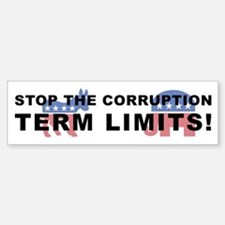 Stop Corruption - Term Limits 2 Sticker (Bumper)
