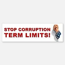 Stop Corruption - Term Limits 1 Bumper Bumper Sticker