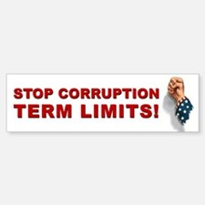 Stop Corruption - Term Limits 1 Sticker (Bumper)
