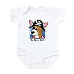 Cartoon Pirate Corgi Infant Bodysuit