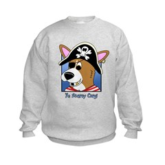Cartoon Pirate Corgi Sweatshirt