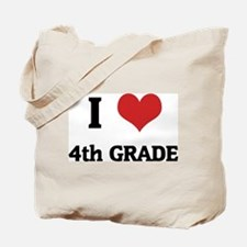 I Love 4th Grade Tote Bag