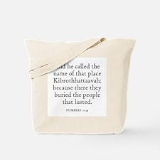 NUMBERS  11:34 Tote Bag
