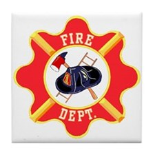 Fire Department Tile Coaster