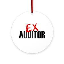 Ex Auditor Ornament (Round)