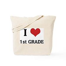 I Love 1st Grade Tote Bag