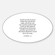 NUMBERS 11:32 Oval Decal