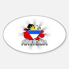 Antigua Oval Decal