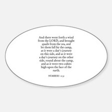 NUMBERS 11:31 Oval Decal