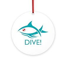 Dive! Tribal Fish Ornament (Round)