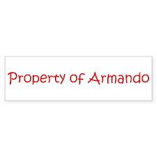 Property of Armando Bumper Bumper Sticker