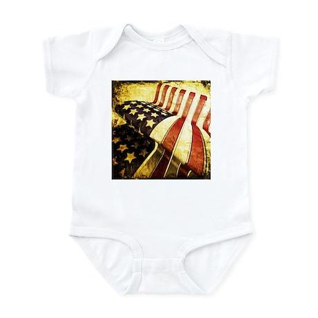 American Flag Old Infant Bodysuit