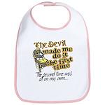 The Devil Made Me Do It Bib