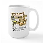 The Devil Made Me Do It Large Mug