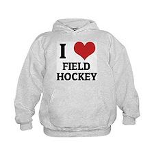 I Love Field Hockey Hoodie