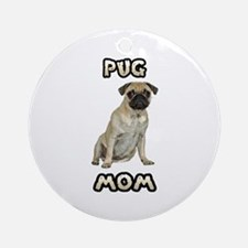 Pug Mom Ornament (Round)