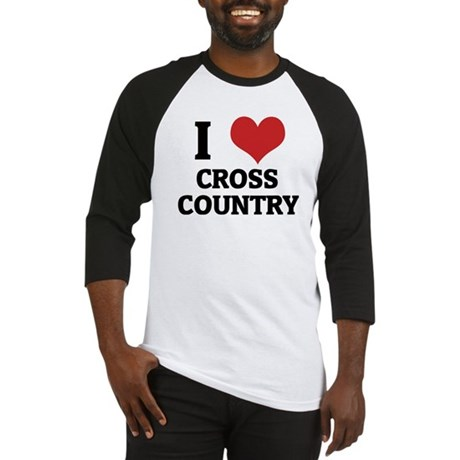 I Love Cross Country Baseball Jersey