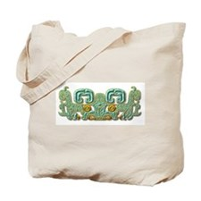 Mayan Jaguar-turquoise Tote Bag