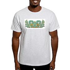 Mayan Jaguar-turquoise T-Shirt