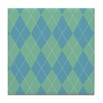 Blue & Green Argyle Tile Coaster