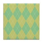 Green & Yellow Argyle Tile Coaster