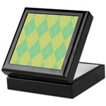 Green & Yellow Argyle Keepsake Box