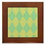 Green & Yellow Argyle Framed Tile
