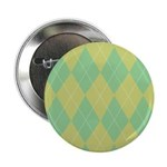 "Green & Yellow Argyle 2.25"" Button"
