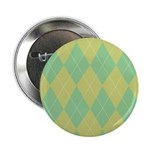 "Green & Yellow Argyle 2.25"" Button (10 pack)"