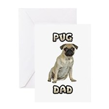 Pug Dad Greeting Card