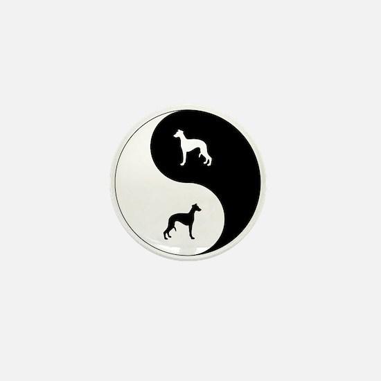 Yin Yang Whippet Mini Button
