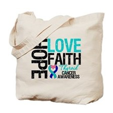 Thyroid Cancer Hope Faith Tote Bag