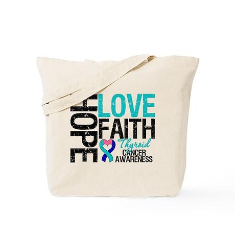 Thyroid Cancer Hope Faith Tote Bag