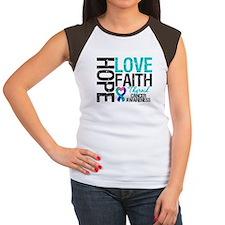 Thyroid Cancer Hope Faith Women's Cap Sleeve T-Shi