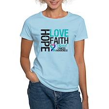 Thyroid Cancer Hope Faith T-Shirt