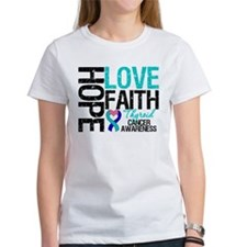 Thyroid Cancer Hope Faith Tee