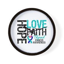 Thyroid Cancer Hope Faith Wall Clock