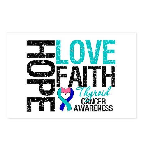 Thyroid Cancer Hope Faith Postcards (Package of 8)