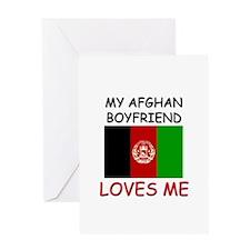 My Afghan Boyfriend Loves Me Greeting Card