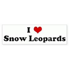 I Love Snow Leopards Bumper Bumper Sticker