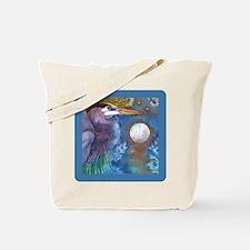 Blue Heron and Bronze Moon Tote Bag
