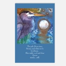 Blue Heron and Bronze Moon Postcards (Package of 8
