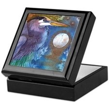 Blue Heron and Bronze Moon Keepsake Box