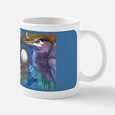 Blue Heron and Bronze Moon Mug