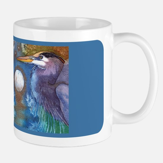 Blue Heron and Bronze Moon Mug