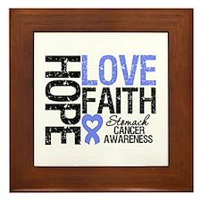 Stomach Cancer Faith Framed Tile