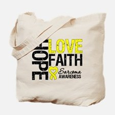 Sarcoma Hope Faith Tote Bag