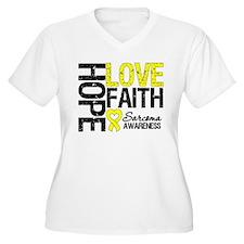 Sarcoma Hope Faith T-Shirt