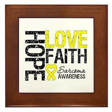 Sarcoma Hope Faith Framed Tile