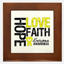 Sarcoma Hope Faith Framed Tile